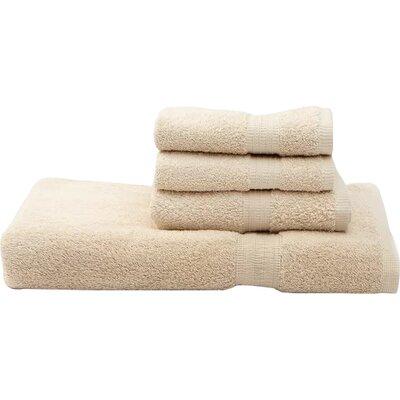 Terry 4 Piece Towel Set Color: Biscuit