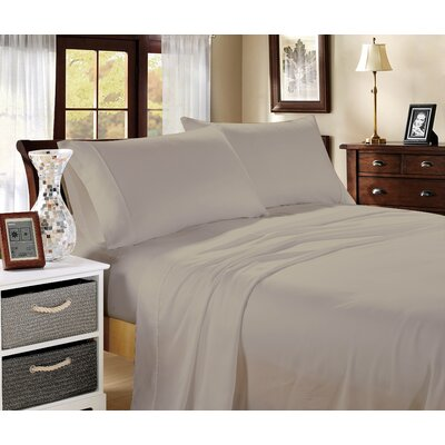 Aura 400 Thread Count 100% Cotton Sheet Set Size: King, Color: Linen