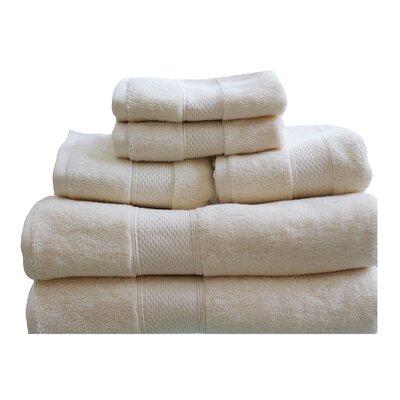 Hudson 650 GSM Cotton Dream Castle 6 Piece Towel Set Color: Ivory
