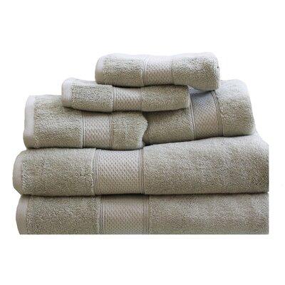 Hudson 650 GSM Cotton Dream Castle 6 Piece Towel Set Color: Sage