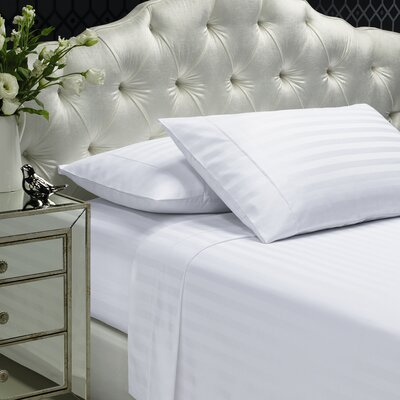 Aura 300 Thread Count 100% Cotton Sheet Set Size: King, Color: White