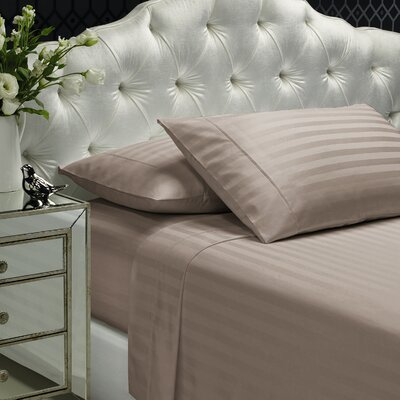 Aura 300 Thread Count 100% Cotton Sheet Set Size: Queen, Color: Hazelnut
