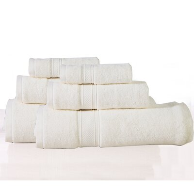Huntington 6 Piece Towel Set Color: Ecru