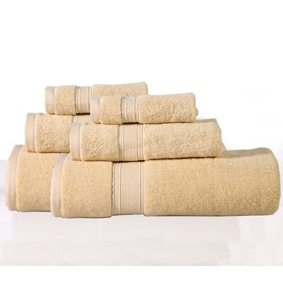 Huntington 6 Piece Towel Set Color: Golden