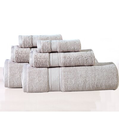 Huntington 6 Piece Towel Set Color: Sand