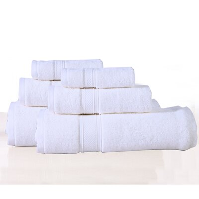 Huntington 6 Piece Towel Set Color: White