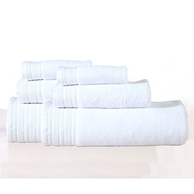 Berkley 6 Piece Towel Set Color: White