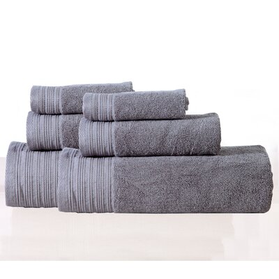 Berkley 6 Piece Towel Set Color: Pewter