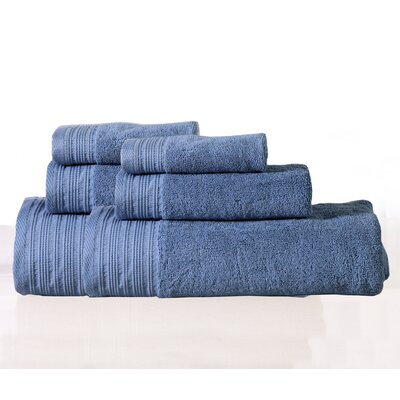 Berkley 6 Piece Towel Set Color: Blue