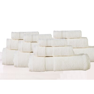 Huntington 12 Piece Towel Set Color: Ecru