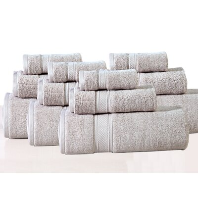 Huntington 12 Piece Towel Set Color: Sand