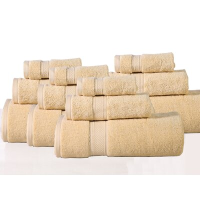 Huntington 12 Piece Towel Set Color: Golden