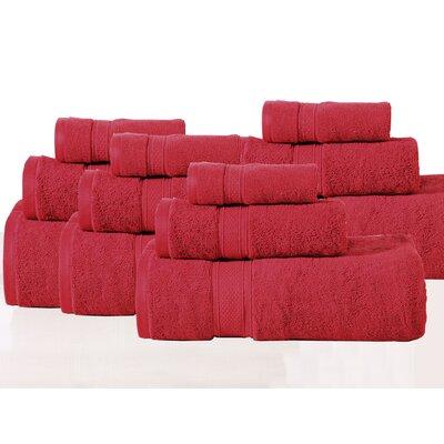 Huntington 12 Piece Towel Set Color: Crimson
