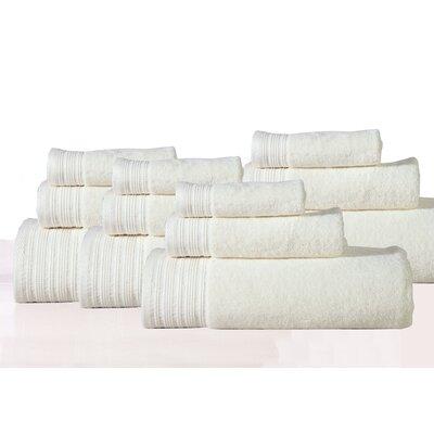 Berkley 12 Piece Towel Set Color: Ivory