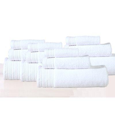 Berkley 12 Piece Towel Set Color: White