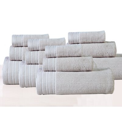 Berkley 12 Piece Towel Set Color: Linen