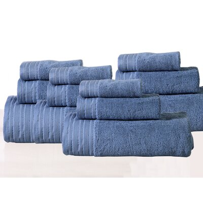 Berkley 12 Piece Towel Set Color: Blue
