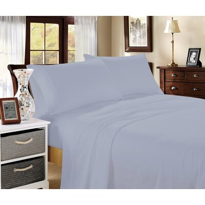 Aura 400 Thread Count 100% Cotton Sheet Set Size: King, Color: Blue