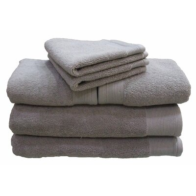 6 Piece 100% Cotton Dream Castle Delano Towel Set Color: Silver