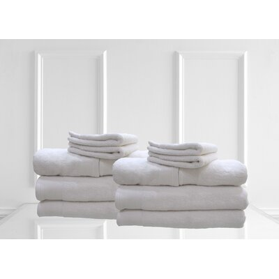 Dream Castle Delano 12 Piece Towel Set Color: White