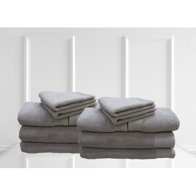 Dream Castle Delano 12 Piece Towel Set Color: Silver
