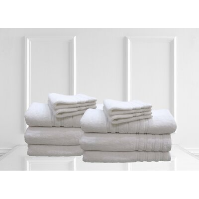 Dream Castle Brentwood 12 Piece Towel Set Color: Bright White