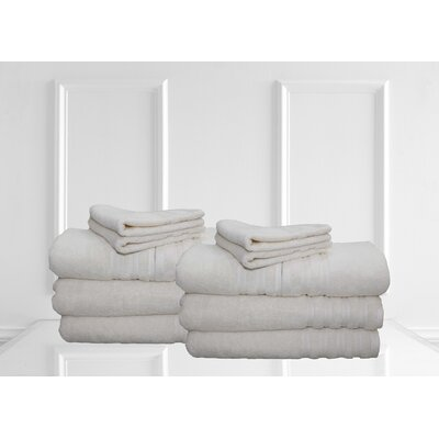 Dream Castle Brentwood 12 Piece Towel Set Color: Ivory