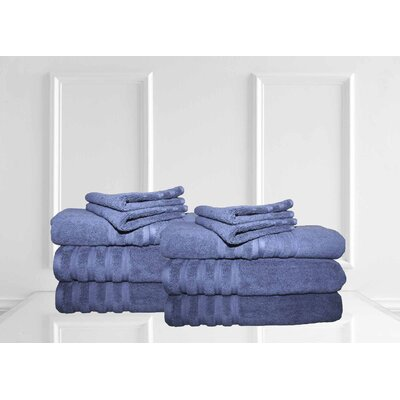 Dream Castle Brentwood 12 Piece Towel Set Color: Indigo