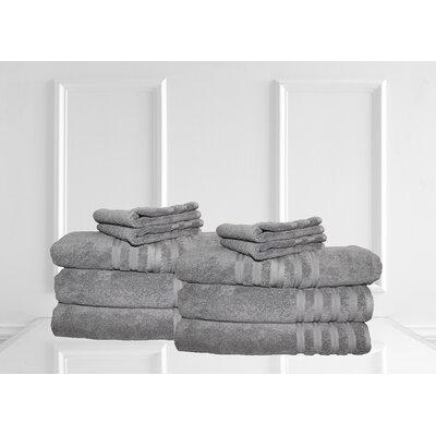 Dream Castle Brentwood 12 Piece Towel Set Color: Iron