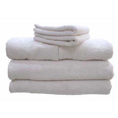 6 Piece 100% Cotton Dream Castle Delano Towel Set Color: White
