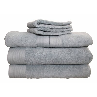 6 Piece 100% Cotton Dream Castle Delano Towel Set Color: Sea Blue