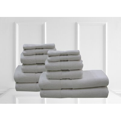 Lexington 12 Piece Towel Set Color: White