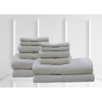 Lexington 12 Piece Towel Set Color: Ecru