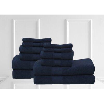 Lexington 12 Piece Towel Set Color: Dark Blue