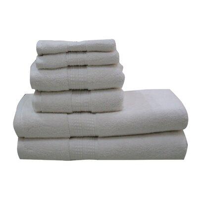 Lexington 6 Piece Towel Set Color: White
