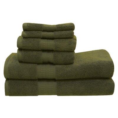 Lexington 6 Piece Towel Set Color: Cypress