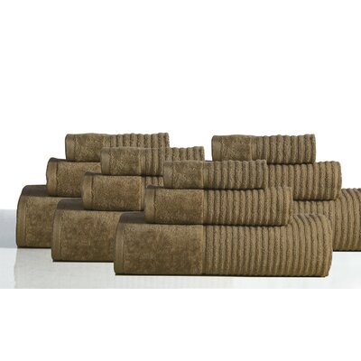650 GSM 100% Cotton Sensual Spa Avalon 12 Piece Towel Set Color: Cocoa