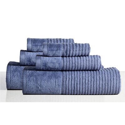 650 GSM 100% Cotton Sensual Spa Avalon 12 Piece Towel Set Color: Steel Blue