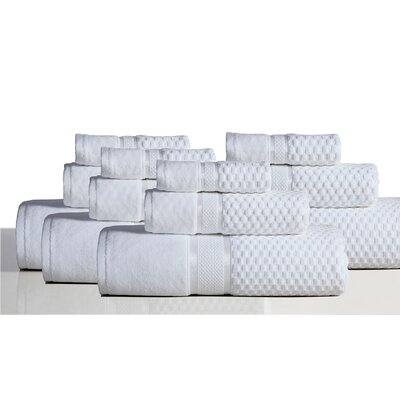 650 GSM 100% Cotton Sensual Spa Hollister 12 Piece Towel Set Color: White