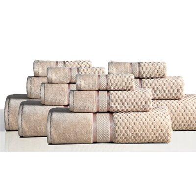 650 GSM 100% Cotton Sensual Spa Hollister 12 Piece Towel Set Color: Wheat