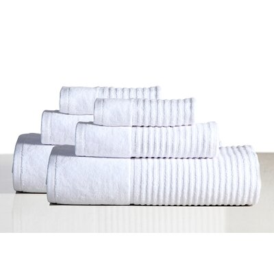 650 GSM 100% Cotton Sensual Spa Avalon 6 Piece Towel Set Color: White