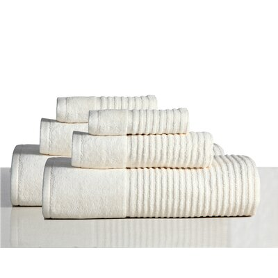 650 GSM 100% Cotton Sensual Spa Avalon 6 Piece Towel Set Color: Ecru