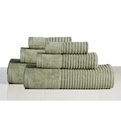 650 GSM 100% Cotton Sensual Spa Avalon 6 Piece Towel Set Color: Basil