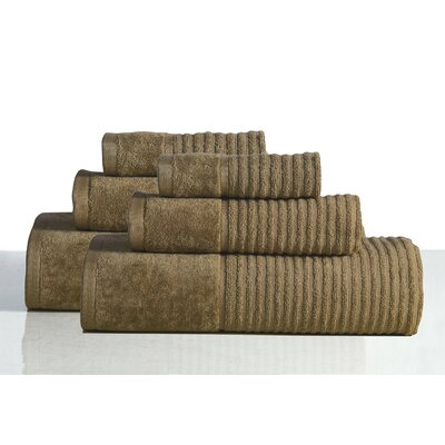 650 GSM 100% Cotton Sensual Spa Avalon 6 Piece Towel Set Color: Cocoa