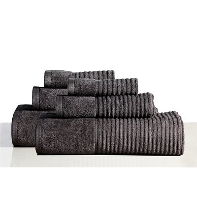 650 GSM 100% Cotton Sensual Spa Avalon 6 Piece Towel Set Color: Platinum