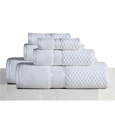650 GSM 100% Cotton Sensual Spa Hollister 6 Piece Towel Set Color: White