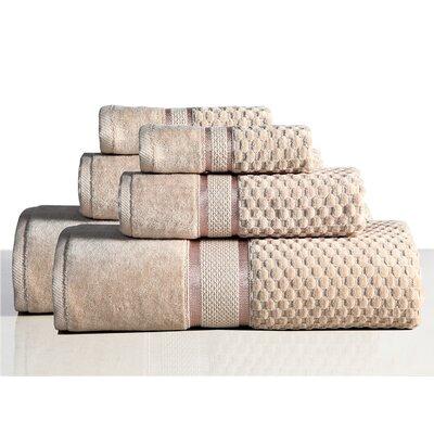 650 GSM 100% Cotton Sensual Spa Hollister 6 Piece Towel Set Color: Wheat
