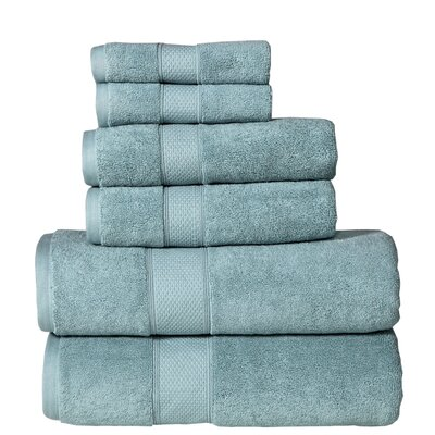 Fleener Hudson 6 Piece Towel Set Color: Turquoise