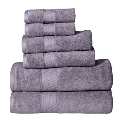 Polywood Hudson 6 Piece Towel Set Color: Lilac