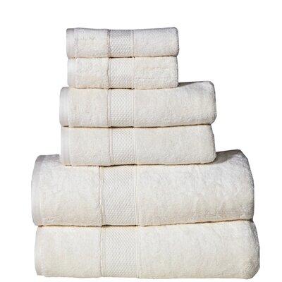 Polywood Hudson 6 Piece Towel Set Color: Ivory